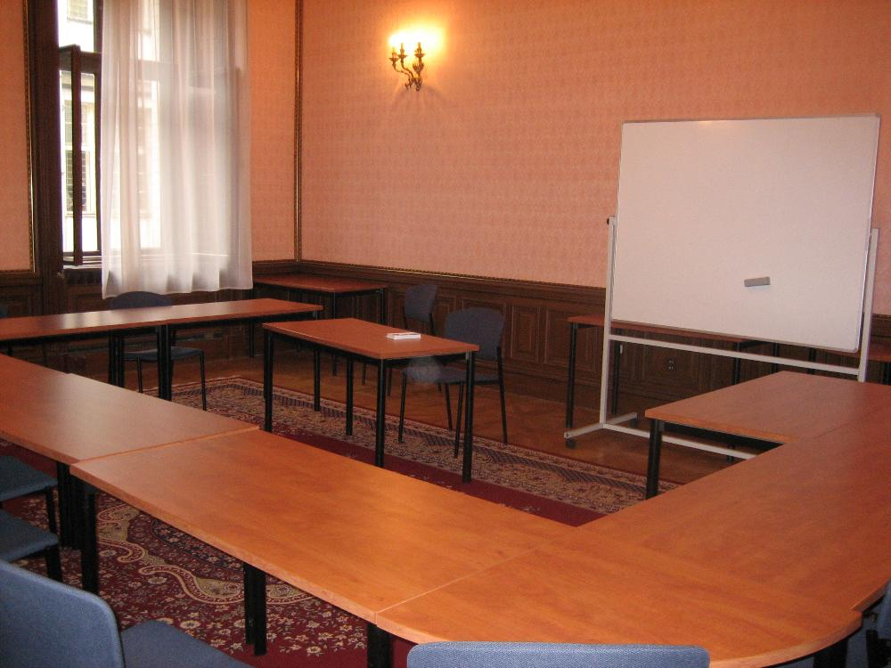 classroom at CERGE