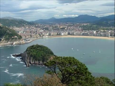 View of coast, San Sebastian