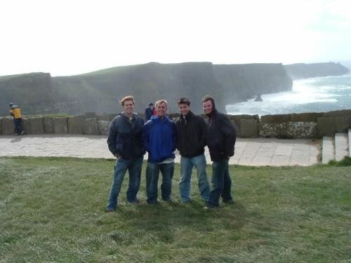 Students along Ireland coast