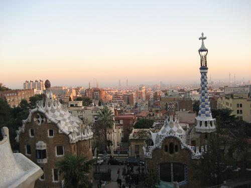 A view of Barcelona from Gaudi's Parc Guell, by Dean Dickos